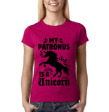 My patronus is a unicorn Women T Shirts Black-Gildan-Daataadirect.co.uk