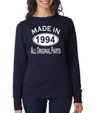 Made in 1994 All Original Parts Women Sweat Shirts White-ANVIL-Daataadirect.co.uk