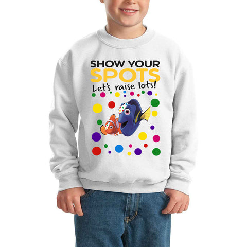 Nemo Pudsey Bear Spotty Day - Kids SweatShirt-Gildan-Daataadirect.co.uk