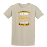 Never Underestimate An Old Man With A Classic Mens T Shirts-t-shirts-Gildan-Colour-Size-Daataadirect