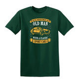 Never Underestimate An Old Man With A Classic Mens T Shirts-t-shirts-Gildan-Forest Green-S-Daataadirect