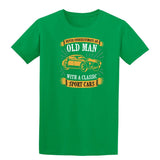 Never Underestimate An Old Man With A Classic Mens T Shirts-t-shirts-Gildan-Irish Green-S-Daataadirect