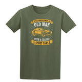 Never Underestimate An Old Man With A Classic Mens T Shirts-t-shirts-Gildan-Military Green-S-Daataadirect