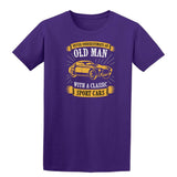 Never Underestimate An Old Man With A Classic Mens T Shirts-t-shirts-Gildan-Purple-S-Daataadirect