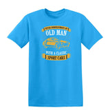 Never Underestimate An Old Man With A Classic Mens T Shirts-t-shirts-Gildan-Sapphire-S-Daataadirect