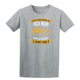 Never Underestimate An Old Man With A Classic Mens T Shirts-t-shirts-Gildan-Sports Grey-S-Daataadirect