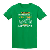 Never Underestimate An Oldman With A Motorcycle Mens T Shirts-Gildan-Daataadirect.co.uk