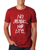 No Music No Life Men T Shirt White-Gildan-Daataadirect.co.uk