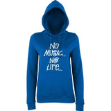No Music No Life Women Hoodies White-AWD-Daataadirect.co.uk