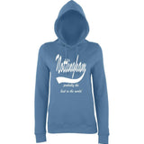 NOTTINGHAM Probably The Best City In The World Womens Hoodies White-AWD-Daataadirect.co.uk