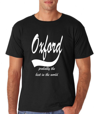 OXFORD Probably The Best City In The World Mens T Shirts White-Gildan-Daataadirect.co.uk