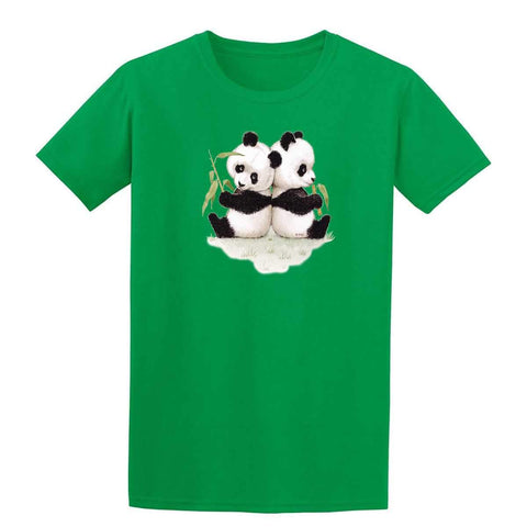 Panda Bear Cubs Mens T Shirt-Gildan-Daataadirect.co.uk