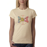PEACE Lover Womens T Shirt-Gildan-Daataadirect.co.uk