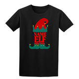 Christmas Personalized Elf Name     Mens T-Shirt Sapphire 2XL Daataadirect