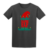 Christmas Personalized Elf Name     Mens T-Shirt Royal Blue 2XL Daataadirect