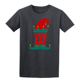 Christmas Personalized Elf Name     Mens T-Shirt Red 2XL Daataadirect