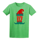 Christmas Personalized Elf Name     Mens T-Shirt Military Green S Daataadirect