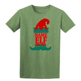Christmas Personalized Elf Name     Mens T-Shirt Indigo Blue XL Daataadirect