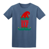 Christmas Personalized Elf Name     Mens T-Shirt Heather Sapphire XL Daataadirect