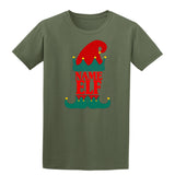 Christmas Personalized Elf Name     Mens T-Shirt Heather Military Green M Daataadirect