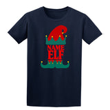Christmas Personalized Elf Name     Mens T-Shirt Heather Irish Green L Daataadirect