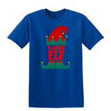 Christmas Personalized Elf Name     Mens T-Shirt Charcoal 3XL Daataadirect