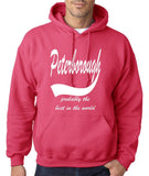 PETERBOROUGH Probably The Best Mens Hoodies White-Gildan-Daataadirect.co.uk