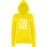Pizza Is My BAE Women Hoodies White-AWD-Daataadirect.co.uk