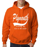 PLYMOUTH Probably The Best Mens Hoodies White-Gildan-Daataadirect.co.uk