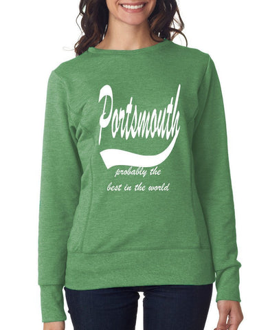 PORTSMOUTH Probably The Best City In The World Womens SweatShirts White-ANVIL-Daataadirect.co.uk