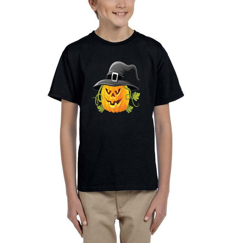 Pumpkin Kids T Shirt-Gildan-Daataadirect.co.uk