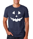 Pumpkin smile face Mens T Shirts White-Gildan-Daataadirect.co.uk