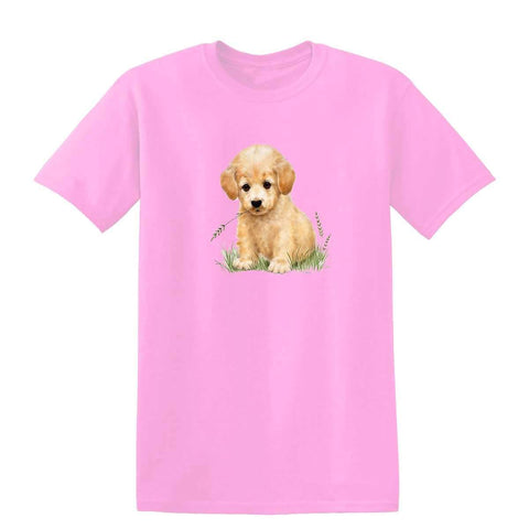 Puppy with Grass in Mouth 20218HL6 Kids T Shirt-Gildan-Daataadirect.co.uk