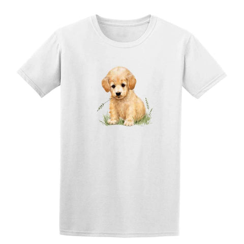 Puppy with Grass in Mouth 20218HL6 Mens T Shirt-Gildan-Daataadirect.co.uk