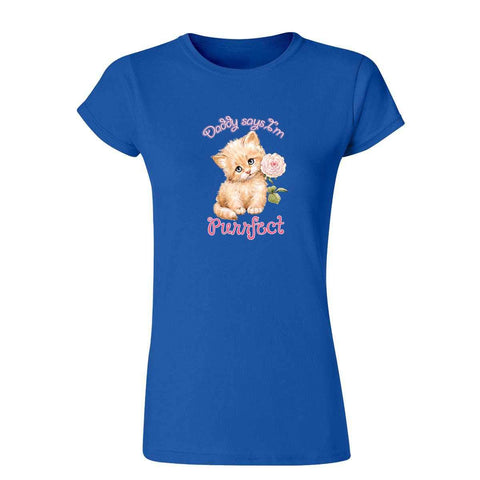 Purrfect 20443HD6 Womens T Shirt-Gildan-Daataadirect.co.uk