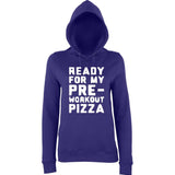 READY FOR MY PRE-WORKOUT PIZZA Women Hoodies White-AWD-Daataadirect.co.uk