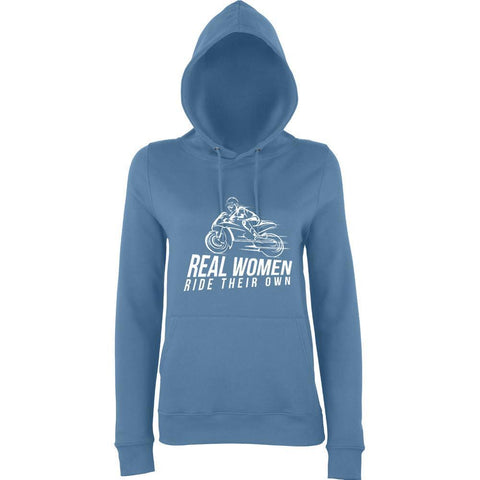 Real women ride their own Womens Hoodies White-AWD-Daataadirect.co.uk