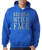 Resting witch face Mens Hoodies Gold-Gildan-Daataadirect.co.uk