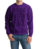 Resting witch face Mens SweatShirts Black-Gildan-Daataadirect.co.uk