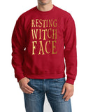 Resting witch face Mens SweatShirts Gold-Gildan-Daataadirect.co.uk