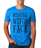 Resting witch face Mens T Shirts Black-Gildan-Daataadirect.co.uk