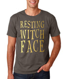 Resting witch face Mens T Shirts Gold-Gildan-Daataadirect.co.uk