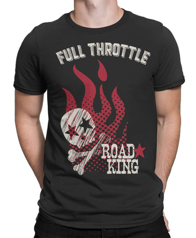 Road King Motorbike Mens T-Shirt-FULL THROTTLE™-Daataadirect.co.uk