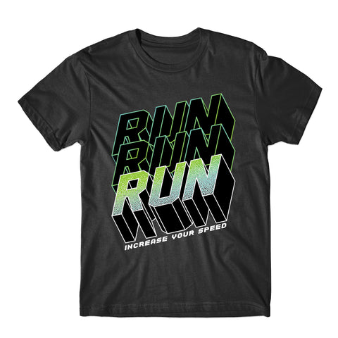Run Increase Your Speed T-Shirt Inspiring Run Faster T-Shirt-Gildan-Daataadirect.co.uk