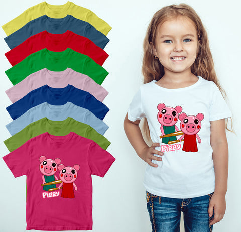 Funny Pig Kids T Shirt Gamer Gaming Birthday Gift Boys Girls Fans Tee Top-Gildan-Daataadirect.co.uk