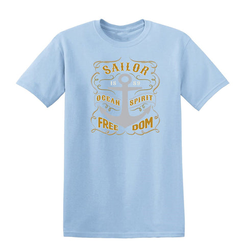 Sailor Ocean Spirit Freedom Mens T Shirts-Gildan-Daataadirect.co.uk