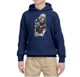 Scary Skelton Kids Hoodies-Gildan-Daataadirect.co.uk