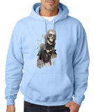 Scary Skelton Mens Hoodies-Gildan-Daataadirect.co.uk