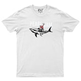 Boy On Shark Funny Mens T Shirt Tour Music Rock T-Shirt-Gildan-Daataadirect.co.uk