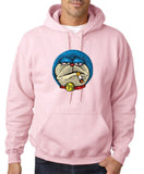 Shuttle cat blue smoking Mens Hoodies-Gildan-Daataadirect.co.uk